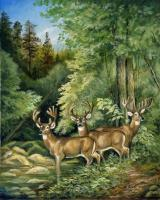 Wildlife - The Three Bachelors - Oil