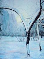 Oil Paintings - Midwinter - Oil On Canvas Panel
