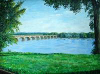 Oil Paintings - Riverside - Oil On Canvas