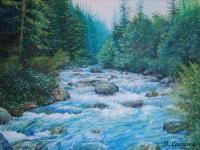 Oil Paintings - Yellow River - Oil On Canvas
