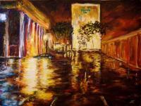 Oil Paintings - Holiday Inn - Oil On Canvas Panel