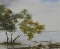 Watercolor Paintings - At The Lakeside Landscape 67 - Watercolor