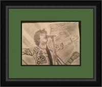 Billie Joe Armstrong - Green Day - Pencil Drawings - By Charles Wallace, Sketch Drawing Artist