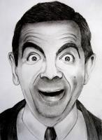 Mrbean Aka Rowan Atkinson A4 - Paper Drawings - By Ronald Fernandes, Pencil Sketch Drawing Drawing Artist