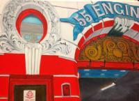 New York City Scenes - Engine Company 55 - Oil On Canvas
