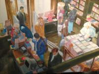 Sunlit Bookstore - Oil On Canvas Paintings - By Leslie Dannenberg, Realism Painting Artist