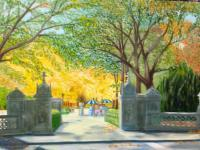 New York City Scenes - Central Park Fall - Oil On Canvas