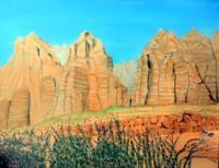 Canyons Buttes  Mountains - Utah Mountains - Oil On Canvas