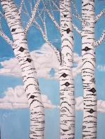 Trees - Birch Trees - Oil On Canvas