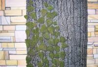 Trees - Backyard Trees With Vines - Oil On Canvas