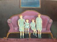 Interiors And Exteriors - Four Sisters - Oil On Canvas