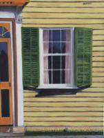 Interiors And Exteriors - Yellow Framed House - Oil On Canvas
