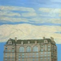 Interiors And Exteriors - Penthouse In The Sky - Oil On Canvas