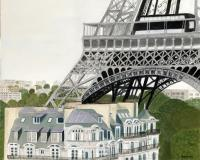 Buildings - Paris Treasure - Oil On Canvas
