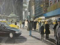 Ramons Studio - Heading To Madison Avenue - 24X36 Inches Oil On Canvas
