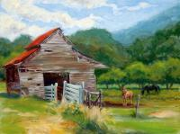 Painting - Claras Barn - Oil