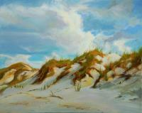 The Dunes Of Smyrna - Oil Paintings - By Laura Bates, Impressionistic Painting Artist