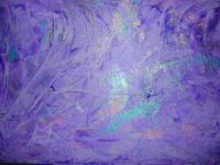 Violet - Oil And Plastic On Canvas Paintings - By Dahn Midora, Original Painting Artist