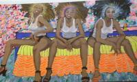 Glamour Girls - Oil And Plastic On Canvas Paintings - By Dahn Midora, Original Painting Artist