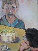 Figurative - The Birthday Party - Oil