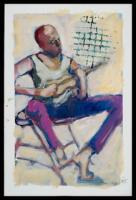 Figurative - The Guitar Player - Acrylic On Paper