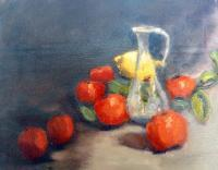 Still Life - Tangerines On A Table - Oil