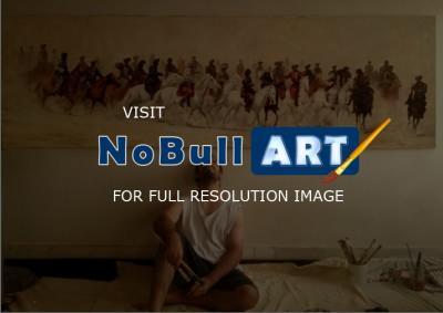 Akram Ati - Buzkashi - Realism Paintings For Sale - Buy Oil