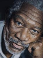 Mr Freeman - Water Color Pastel Pencils Drawings - By Simba   Robert Makoni, Mixed Media Drawing Artist