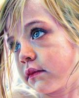 Little Princess Ellie - Acrylics Paintings - By Simba   Robert Makoni, Mixed Media Painting Artist