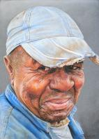 Portraiture - Old School - Water Color Pastel Pencils