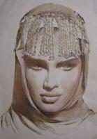 Portrait - The Beaded Veil - Oil