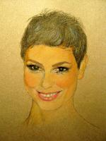 Portrait - Morena - Pastel Pencils