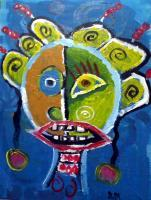 Outsider Arts - The Singer - Acrylic