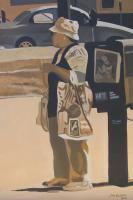 Jons Gallery - The Bus Stop - Acrylic On Canvas