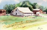 Landscape - Barn - Aiken Minnesota - Watercolor