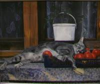 Animals - Catnap - Acrylic On Board