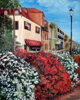 Landscapes  Seascapes - Flowers On Main Street - Acrylic On Canvas