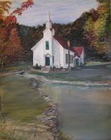 Rustic Landscapes - Church In The Woods - Acrylic On Canvas