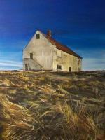 Old Barn On The Hill - Acrylic On Board Paintings - By Deborah Boak, Realism Painting Artist