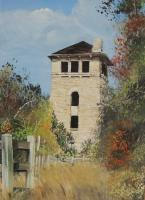 Fall At The Water Tower - Acrylic On Board Paintings - By Deborah Boak, Realism Painting Artist