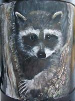 Animals - Rocky Raccoon - Acrylic On Steel Wclearcoat