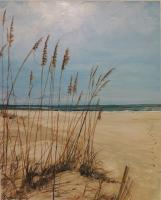Landscapes  Seascapes - A Walk On The Beach - Acrylic On Canvas