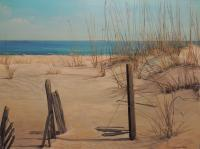 Landscapes  Seascapes - Broken Fences - Acrylic On Board