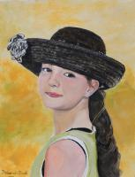 People - Mona Lisa Smile - Acrylic On Paper
