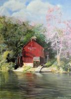 Rustic Landscapes - Harpers Mill - Acrylic On Canvas