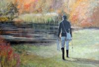 Landscapes  Seascapes - Sunrise Fly Fishing - Acrylic On Board
