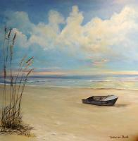 Landscapes  Seascapes - Boat In The Sand - Acrylic On Board