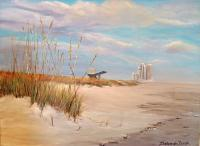 Evening On The Gulf - Acrylic On Canvas Paintings - By Deborah Boak, Realism Painting Artist