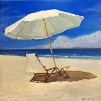 Landscapes  Seascapes - The Umbrella - Acrylic On Canvas