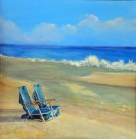 Landscapes  Seascapes - Two Chairs - Acrylic On Board